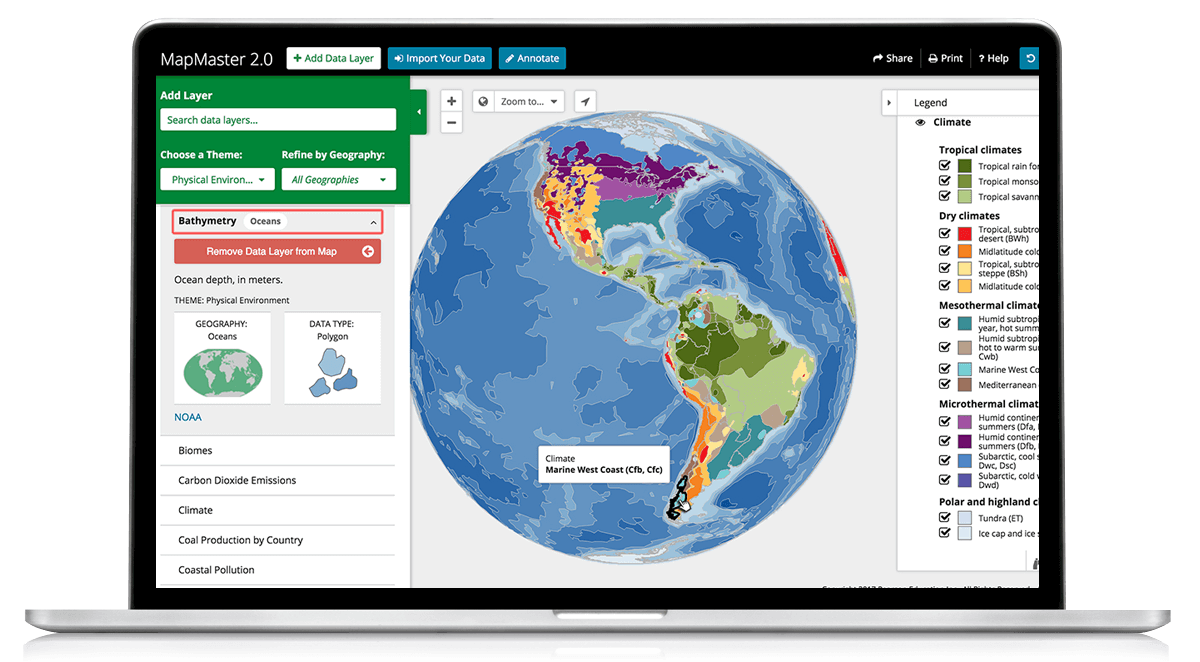 MapMaster Interactive Map Activities